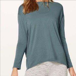 Seafoam green Lululemon long sleeve shirt